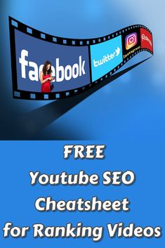 FREE Youtube SEO Cheatsheet for Ranking Videos. Build trust and turn your prospect into loyal customers with an impressive video presentation. #videomarketing #video #marketingdigital #marketing #socialmedia #socialmediamarketing