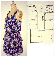 - for ikat? Diy Tulle Skirt, Tulle Skirt Tutorial, Diy Dress, Blouse Patterns, Clothing Patterns, Sewing Patterns, How To Make Clothes, Kinds Of Clothes, Mens Shirt Pattern