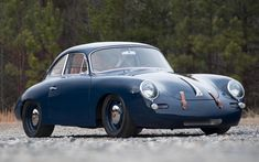 This 1964 Porsche 356 Outlaw has suspension and a tubular steel chassis developed and built by Porsche racing legend and former Brumos Racing Crew Chief Porsche Classic, Classic Cars, Porsche 356 Outlaw, 1964 Porsche, Vintage Porsche, Vintage Cars, Antique Cars, Porsche Sports Car, Porsche Cars