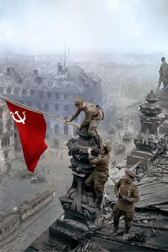 """⁠It's Victory in Europe Day, a day celebrating the defeat of the Nazis 75 years ago. It is often portrayed as if it was only the US & UK-led forces that defeated Germany but the role of the Soviet Union was crucial in defeating the Nazis. Military Art, Military History, Communist Propaganda, Military Drawings, Soviet Army, War Photography, Red Army, World War Two, Historical Photos"