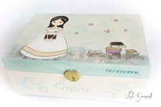 #Joyero niña de #Comunión con #libros. www.lolagranado.com