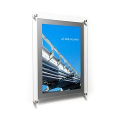 Acrylic Poster Holder - Wall Fixed Acrylic Display Frames + Stand Offs Picture Stand, Photo Picture Frames, Acrylic Board, A4 Poster, Posters, Poster Display, Mount System, Acrylic Display, Green Day