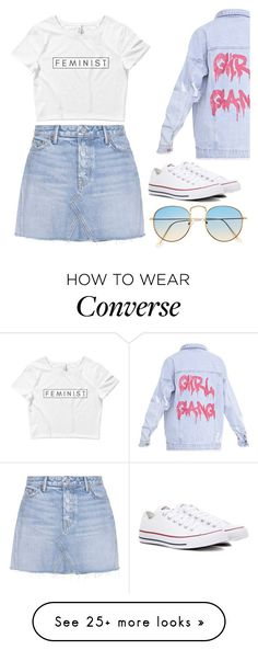 """""""Girl Gang"""" by gustavia5347 on Polyvore featuring GRLFRND and Converse"""