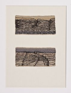 Gallery 2: THE LAND « American Tapestry Alliance; Mette Lise Rössing, 2004, haute-lisse, wool and linen, 19 x 8 cm, (photo by Karl Ravn)