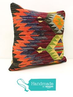 Modern kilim pillow cover 18x18 inch (45x45 cm) Nomadic Kilim pillow cover Home Decor Natural Pillow cover Accent Kilim Cushion Cover from Kilimwarehouse https://www.amazon.com/dp/B01M6V5F3K/ref=hnd_sw_r_pi_dp_eBo.xbW9ZPRGT #handmadeatamazon