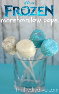 DIY disney frozen marshmallow crystal sprinkles pop for 2014 Halloween - blue, white, Wilton candy, Candy Sticks #Halloween