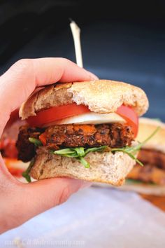 Black Bean Sweet Potato Burgers {vegan | gluten free | grain free} | C it Nutritionally