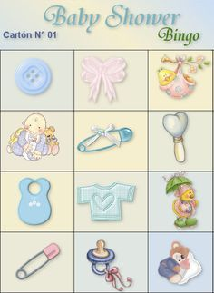 Loteria Para Baby Shower Image Imprimir Juegos Kootationcom