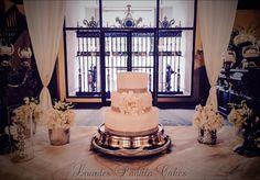 Chic Wedding Cake at El Convento, old San Juan by Luxury Wedding Cakes by Lourdes Padilla