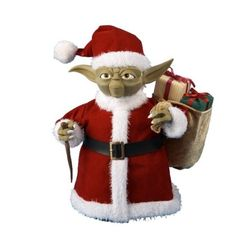 Star Wars 10-Inch Santa Yoda Tree-Topper - I can't wait to pick one of these up from Hobby Lobby! Yeah, it may be a little early, but they sold out quickly last year!