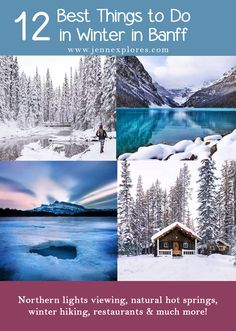 12 of the Best things to do in Banff National Park in the Winter. Banff in winter is absolutely spectactular and magical. Here are 12 of the best activities to do and things to see in Banff in the wintertime. Weekend Activities, Adventure Activities, Winter Activities, Cool Places To Visit, Places To Go, Northern Lights Viewing, Banff National Park, National Parks, Stuff To Do