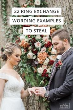 wedding vows 22 Ring Exchange Wording Examples To Steal If you want your ring exchange wording to be special and in your own words. We have the best ring exchange wording examples here! Do It Yourself Wedding, Plan Your Wedding, Wedding Ideas, Wedding Venues, Wedding Inspiration, Wedding Decorations, Wedding Pictures, Wedding Centerpieces, Wedding Details