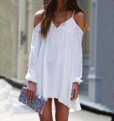 WOMEN'S SLING WHITE DRESS