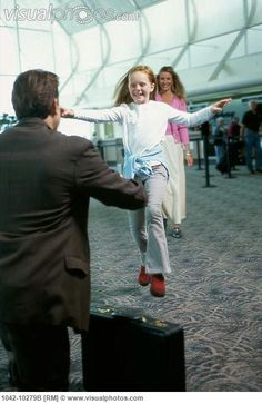 Does your #kid run to #hug you at the #airport when you get back #home? #love #familyhug