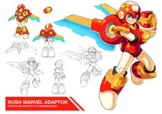 Megaman 11- Rush Marvel Adaptor by ultimatemaverickx on DeviantArt