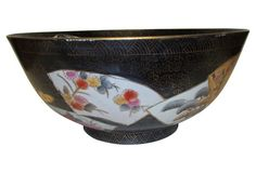 Large Chinese Hand-Painted Bowl
