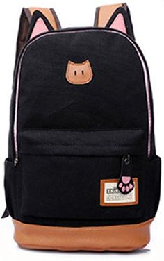 5fb0ef1815 Cute Cat Shape Double Shoulders Backpack Nice for School Student   This is  an Amazon Affiliate · Shoulder BackpackCanvas Shoulder BagShoulder ...