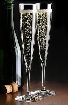 My absolute favorite flutes!  So beautiful!  Waterford Elegance Champagne Trumpet Flute, Pair