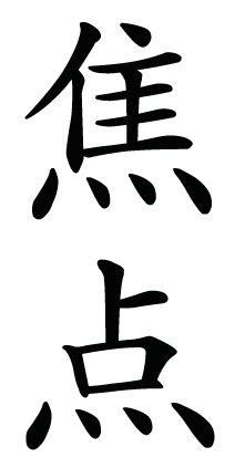 Japanese Kanji Symbol for focus Japanese Symbol, Japanese Kanji, Japanese Words, Stencil Wood, Chinese Writing, Symbols And Meanings, Chinese Symbols, Japanese Characters, Japanese Calligraphy