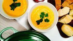 Gulrotsuppe med smørbønner og curry