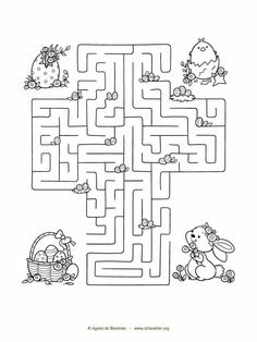 2 Easter mazes. Free Activities For Kids, Bible Activities, Games For Kids, Information Age, Free Bible, Maze, Coloring Pages, Easter, Children