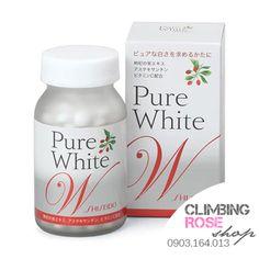 Viên uống trắng da Pure White W Shiseido  http://climbingrose-shop.blogspot.com/2014/05/collagen-shiseido-vien-uong-trang-dapure-white-w-climbing-rose-shop.html