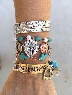 $8.99   It's All About The Faith... Bout The Faith... Unique Bracelets   Shop boutique deals  on Jane.com!