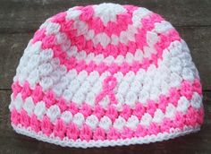 Breast Cancer Awareness crocheted cloche hat by BuffonesSundries, $8.00