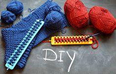 Handleiding sjaal loom breien … simpel..leuk..en warm!