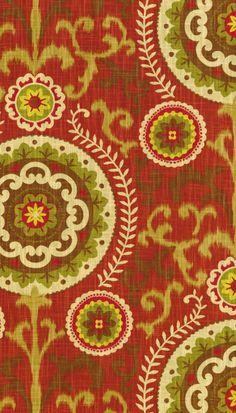 Home Decor Print Fabric- Waverly Inner Soul Cayenne Joann