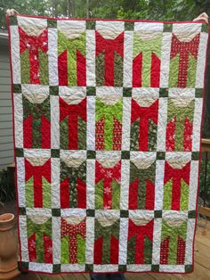 @Beth Hutchens.  Here is a pretty Christmas quilt for me to cozy up with on the couch.