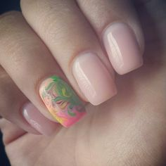 Colorful yet simple nails design
