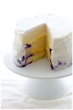 Meyer Lemon Blueberry Cream Cake (from Foodagraphy By Chelle)