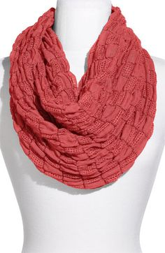 Rubbish Textured Check Infinity Scarf $18.00