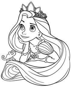 What Will Rapunzel Coloring Pages Be Like In The Next 20 Years? Princess Coloring Sheets, Disney Princess Coloring Pages, Disney Princess Colors, Disney Princess Pictures, Disney Colors, Rapunzel Coloring Pages, Fall Coloring Pages, Coloring Books, Easy Drawings Sketches