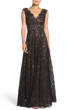 Vera Wang Scalloped Lace Gown available at #Nordstrom