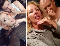 Em uma brincadeira compartilhada na internet, os pais de Emily Musson decidiram recriar as selfies da filha e do namorado.