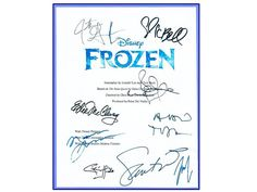Frozen Disney Movie Script Signed Autographed by hollywoodfinds