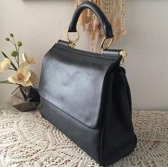 Elegant black satchel, Soft natural leather, Black leather handbag, Women leather purse, Classic design, Gift for her, Bolso cuero, Sac
