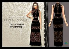 Black Passion Lace Dress Recolor at Rimshard Shop via Sims 4 Updates  Check more at http://sims4updates.net/clothing/black-passion-lace-dress-recolor-at-rimshard-shop/