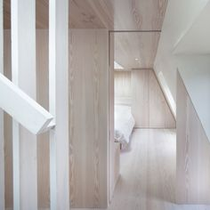 Submariners House   Jonathan Tuckey Design, West London. lye treated timber panelling and joinery.