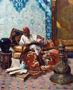' Reading' by Rudolf Ernst The Shafik Gabr Collection, Selected Paintings