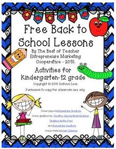 Free Back to School Lessons By The Best of Teacher Entrepreneurs Marketing Cooperative - 2015 at https://www.teacherspayteachers.com/Product/Free-Back-to-School-Lessons-By-The-Best-of-Teacher-Entrepreneurs-MC-2015-2030734
