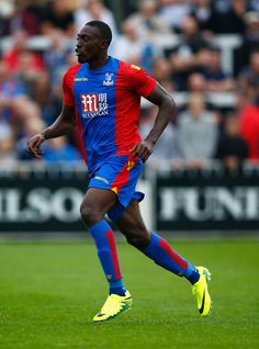 Freddie Ladapo of Crystal Palace in action during the Pre Season Friendly match between Bromley Town FC and Crystal Palace at Hayes…