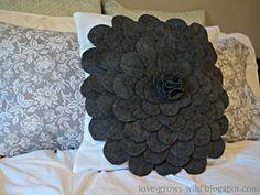 Love Grows Wild: Felt Flower Pillow