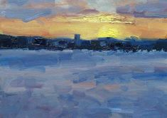 Brisbane Sunset, Oil, 12x16 Inches, 2017 Cool Paintings, Brisbane, Pictures To Paint, Cool Drawings, Oil, Sunset, Internet, Gallery, Impressionist
