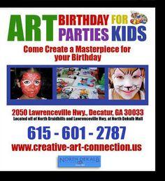 Art kids birthday parties