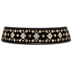 9ee6e3e0caf Tory Burch Embellished Mirror Belt ( 495) ❤ liked on Polyvore featuring  accessories