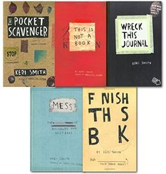 Keri Smith Wreck this Journal Collection 5 Books Set-Wreck This Journal, Mess, Finish this book, This is not a book, The Pocket Scavenger, http://www.amazon.co.uk/dp/B00UHJGJLI/ref=cm_sw_r_pi_awdl_iY3hwb1WYEXTG