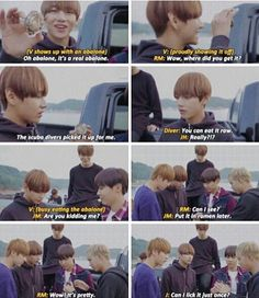 "Shit bangtan say : ""can I lick it just once?"" X'D"